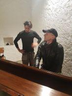 David fait une démonstration pour notre organiste