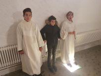 Les enfants Ludovic, Jonathan et Wesley (d.g.à.d.)